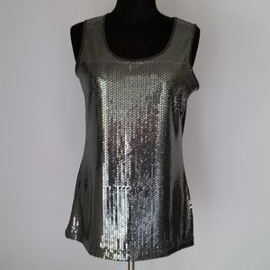 Notations sequins tank top